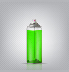 transparent aerosol spray can vector image