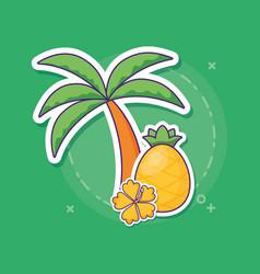 Tropical palm design vector