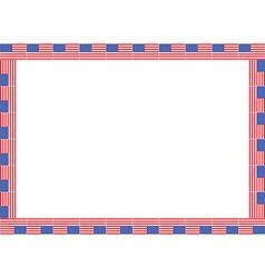 United States flag frame vector image