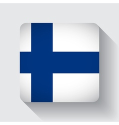 Web button with flag of Finland vector