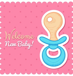 Welcome Baby Card vector image