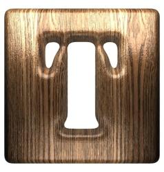 wooden figure t vector image