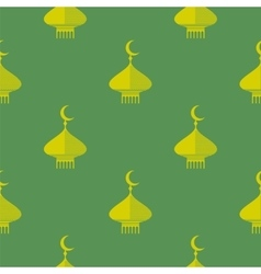 Yellow dome icon seamless pattern vector