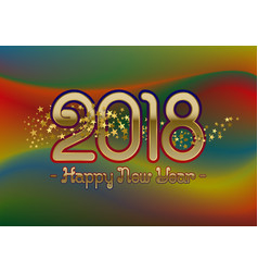 2018 happy new year greeting card template on vector image