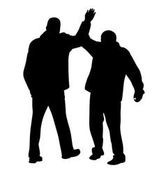 give me five gesture between two businessmen vector image vector image