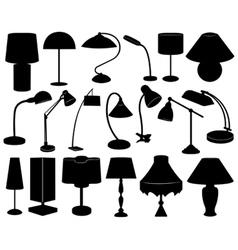 Lamp set vector image vector image