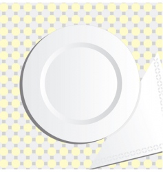 plate and napkin vector image vector image
