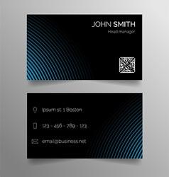 Business card template - modern abstract design vector
