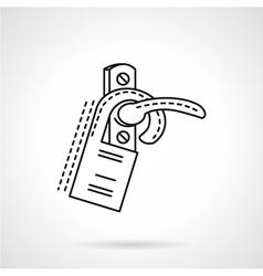 Flat line door label icon vector image