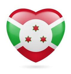 Heart icon of burundi vector