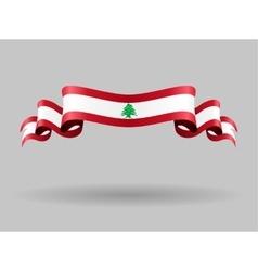 Lebanese wavy flag vector image vector image