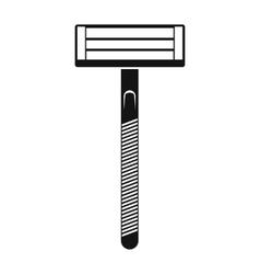 Razor black simple icon vector