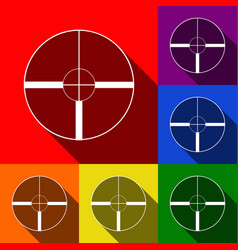 sight sign set of icons with vector image