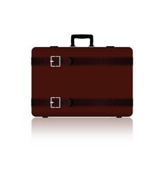 travel bag with belts in brown color two variant vector image vector image