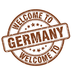 welcome to germany brown round vintage stamp vector image vector image
