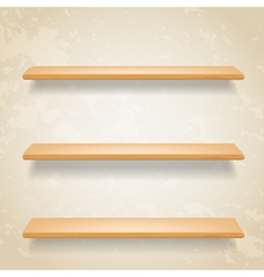 wooden shelf vector image vector image