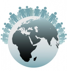 world population symbol vector image vector image