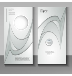 flyer with an abstract pattern paper vector image vector image