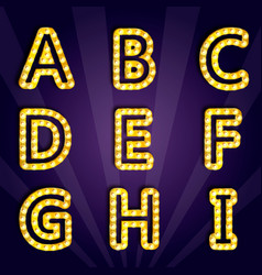 modern lighting alphabet vector image