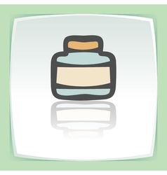 outline empty glass pot icon Modern infographic vector image