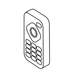 tv remote control icon vector image