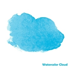 Watercolor cloud for your design vector