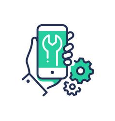 mobile device repair - modern line design vector image