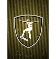 skateboarding badge vector image