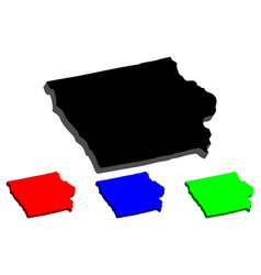 3d map of iowa vector