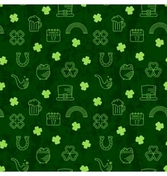 Abstract green seamless line art grunge pattern vector