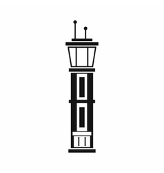 Airport control tower icon simple style vector image