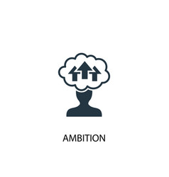 Ambition icon simple element vector