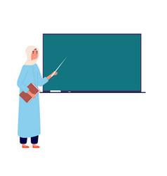 Arab woman teacher muslim businesswoman vector