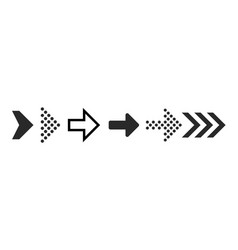 arrow icons black digital symbols and arrows for vector image