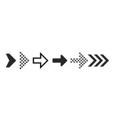 arrow icons black digital symbols and arrows vector image