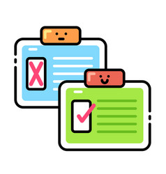 Assessment lineal color icon vector