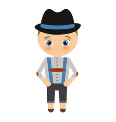 bavarian costume icon vector image
