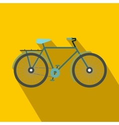 Bike icon in flat style vector image