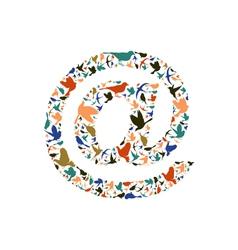 Bird mail vector image