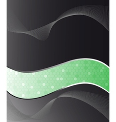 black and green cell abstract background vector image