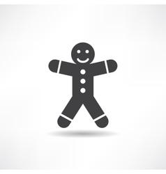 black gingerbread man vector image vector image