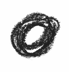 Black wax crayon strokes isolated on white vector