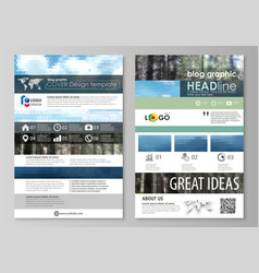 Blog graphic templates page website design vector