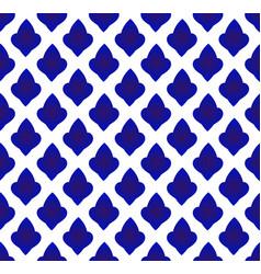 Blue and white ceramic decor vector