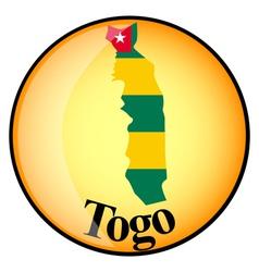 button Togo vector image