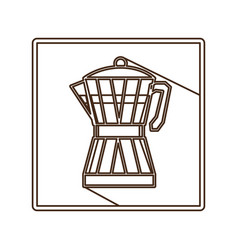 Coffee moka pot icon vector