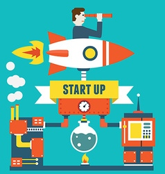 Concept business start up and optimization vector