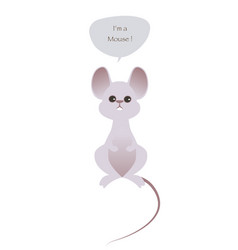 cute mouse isolated on white background and vector image