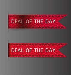 Deal of the day vector image