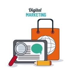 Digital Marketing design shopping and ecommerce vector image